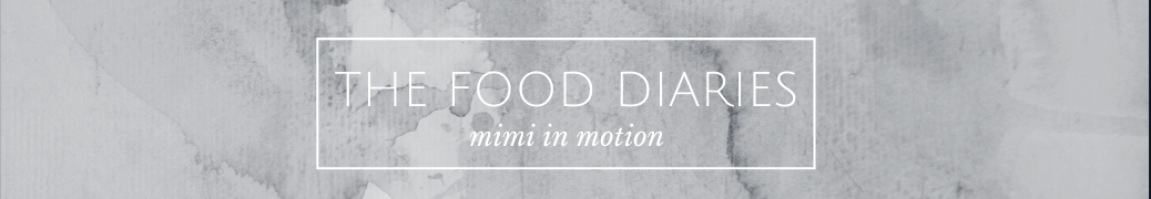 The Food Diaries header