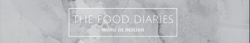 The Food Diaries header